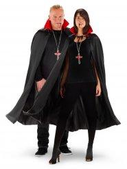 Vampir-Umhang leuchtend Halloween-Zubehör schwarz