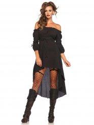 Gothic-Kostüm elegantes Kleid schwarz