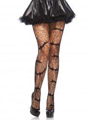 Schwarze Strumpfhose Vampirfledermaus Damen Halloween