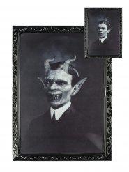 Bild dämonischer Gentleman Rahmen 48 x 36 cm Halloween