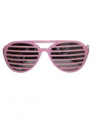 Partybrille mit rosanen Streifen für Erwachsene