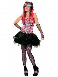 Popstar Kostüm bunt für Damen
