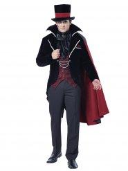 Vampir-Kostüm für Herren in schwarz-burgund