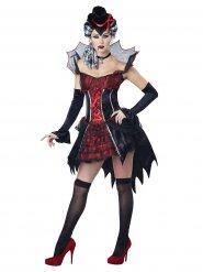 Sexy Vampir-Kostüm für Damen rot-schwarz