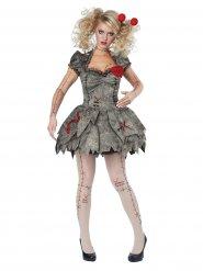 Kostüm Voodoo-Puppe Damen Halloween