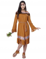 Kostüm Indianerin braun für Damen