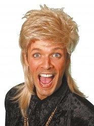Vokuhila Perücke 80er Jahre blond für Erwachsene