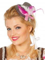 Bayerischer Mii Hut grau und rosa Damen