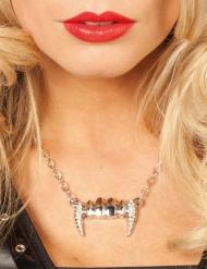 Halskette Vampirzähne Damen Halloween