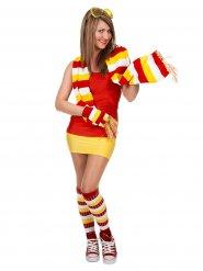 Sport Socken rot-weiß-gelb für Damen