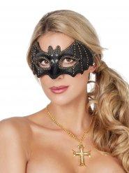 Fledermaus-Augenmaske für Damen Kostüm-Accessoire schwarz-gold