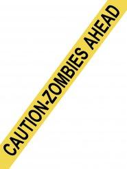 Zombie Absperrband Halloween gelb 15 Meter