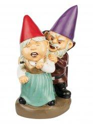 Gartenzwerge Vampir-Paar Deko-Figur bunt 11x13x23 cm