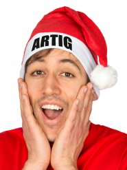 Weihnachtsmütze ARTIG für Erwachsene Weihnachten rot-weiss