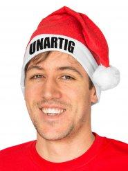 Weihnachtsmann-Mütze UNARTIG für Erwachsene rot-weiss