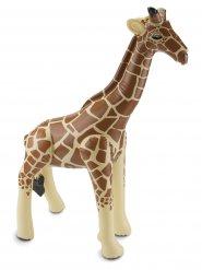 Aufblasbare Giraffe tierische Partydeko braun-beigefarben 74 x 65 x 25 cm