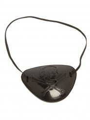 Piraten-Augenklappe mit Totenkopf für Kinder schwarz