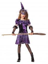 Kleine Hexe-Kinderkostüm Magierin schwarz-lila