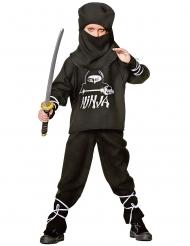 Ninja-Kinderkostüm schwarz-weiss