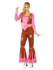 Rosa Hippie Kostüm für Damen
