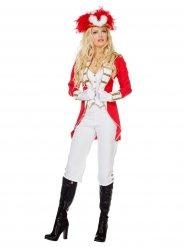 Funkenmariechen Kostüm für Damen weiß-rot