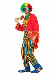 Buntes Clown-Kostüm Erwachsene