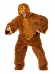 Braunes Affenkostüm für Erwachsene