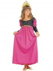Mittelalterliche Königin Kostüm rosa Mädchen