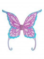 Feenflügeln lila und türkis 85 x 88 cm