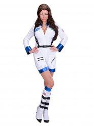 Astronauten-Kostüm weiß Damen