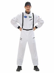 Astronauten Kostüm für Karneval Raumfahrer weiss-schwarz