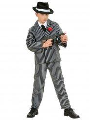 Kostüm Gangster schwarz und weiß für Jungen