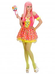 Raffiniertes Candy Girl Damenkostüm Zirkus bunt