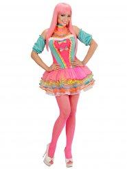 Clown Kostüm Pastelfarben