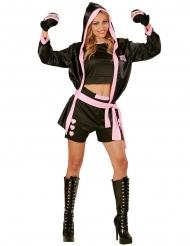 Kostüm sexy Boxweltmeister für Damen
