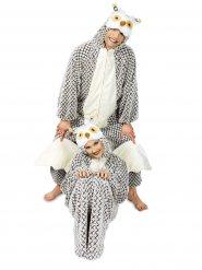 Lustiges Eulen-Kostüm für Erwachsene grau-schwarz