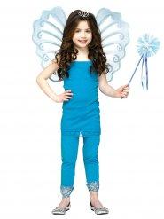 Flügel und blauer Zauberstab Mädchen