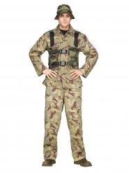 Soldat Kostümkhaki Herren