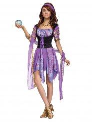 Wahrsagerin Kostüm für Damen lila