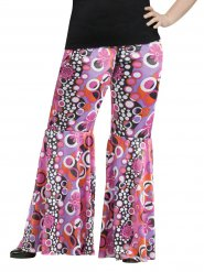 Hippie Hose Muster Flower Power Plus Size