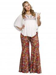 Flower-Power Hippie Kostümzubehör Plus Size bunt