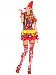 Clown-Kostüm Harlekin Damen