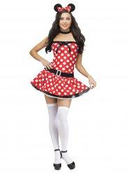 Maus-Kostüm sexy Frau rot, weiß und schwarz