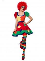Clownfrau Damenkostüm bunt