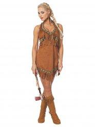 Sexy Indianerinnen-Kostüm Damen hellbraun
