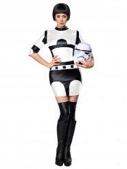 Sexy Space-Damenkostüm Sci-Fi weiss-schwarz