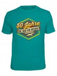 Geburtstags-T-Shirt 50 Jahre türkis