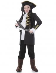 Kinderkostüm edler schwarzer Pirat