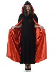 Halloween Kapuzen-Cape schwarz-rot