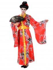 Geisha-Kostüm rot für Damen